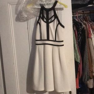 White skater dress with black trim worn once!